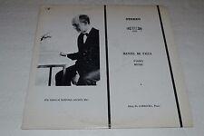 Manuel De Falla~Piano Music~Alicia De Larrocha~MHS 1929~FAST SHIPPING
