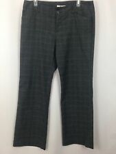 GH Bass & Co Dress Pants Womens 12  Gray Blue Stripe Stretch