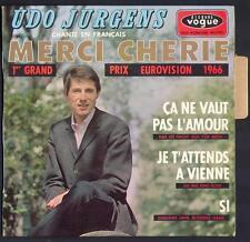 "EUROVISION 45T EP UDO JÜRGENS ""Merci chérie"" 1er GRAND PRIX EUROVISION 1966"