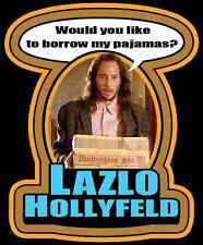 "80's Classic Real Genius Lazlo Hollyfeld ""Borrow My Pajamas?"" custom tee AnySize"