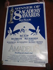 AMADEUS original MOVIE POSTER Academy Awards > ROLLED 1984 > 1980's Mozart