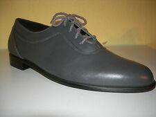 BREKO Business Übergröße Schuhe Leder Grau Handmade Holland Gr.48 LP180€ Neuw2