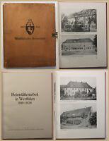Heimstättenarbeit in Weszfalen 1918-1928 Geschichte Ortskunde Landeskunde sf