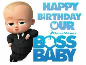 BOSS BABY edible cake/cupcake toppers  -Icing or Wafer Paper