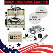 Usb 5 Axis 3040 Cnc Router Engraver Engraving Machine Heavy Duty 800w 24k Rm Us