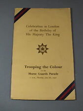 1950 Trooping The Colour Programme - Horse Guards Parade - King George VI