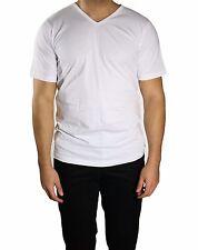 Herren T-Shirt Unterhemd V-Hals Gr.XL Weiß