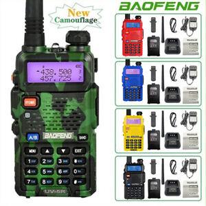 Baofeng UV-5R Walkie Talkie VHF UHF Ham Radio Long Range 10KM HF Transceiver