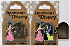 Disney Doorways Sleeping Beauty Aurora & Maleficent Hinged 3-D Pin LE 4000 NEW