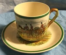 Fox Hunt Hunting Spode Large Cup and Saucer The Find The Meet