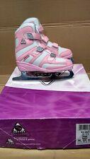 Jackson Softec Tri-Grip 3 Girls Pink Rose Cushy Warm Figure Ice Skates Velcro