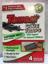 Tomcat Glue Mouse Traps 4 packs, mice, cockroaches, spiders, scorpions +