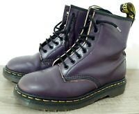 Vtg Dr Martens  combart  boot leather  pruple Pascal UK 6 EU 39 Made in England