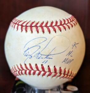 Barry Larkin 95 NL MVP Signed Autographed OML Baseball Reds HOF JSA Cert W Case