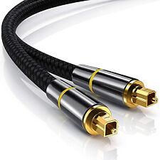 Cable Audio Numérique Fibre Optique Toslink 10m 5m 3m 2m 1m haute performance