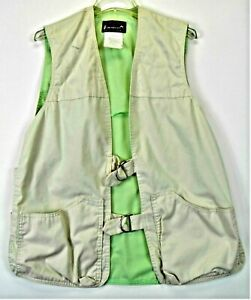 """Unusual  Browning Shooting Vest Tan -Green Size 44"""" - 46"""" Cotton Polyester"""