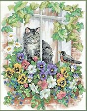 Stamped Cross Stitch Kit SPRINGTIME VIEW Dimensions