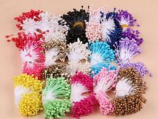 1400 Pcs Pearl Effect Artificial Flower Stamen Double Round Heads Cotton String