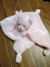 Gund Pink Bear Baby Security Blanket Lovey My First Teddy Satineesnug 58878