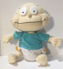 """Rugrats Tommy Plush Baby Doll Toy Blue Shirt Diaper Nanco 16"""" 2000 Nickelodeon"""