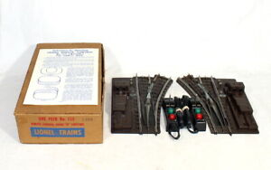 Postwar Lionel #112 Pair Of Super O Remote Control Switches~w/Nice OB & Inst.