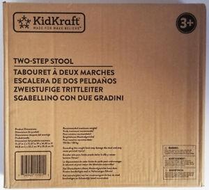 KIDKRAFT white wood TWO STEP STOOL 15501