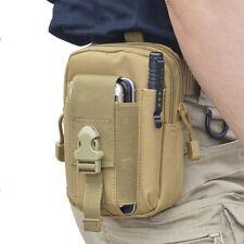 "6"" Tactical Molle Waist Bag Utility Fanny Phone Pouch Bag Phone Case Pack Tan"