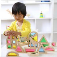 Baby Toddler Toys Rainbow Buliding Blocks Puzzle Wooden Learning Toy for Kids