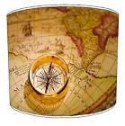 Vintage Naútico Navegación Marítimo Mapas Pantalla Lampara Mesa/Techo De Lámpara