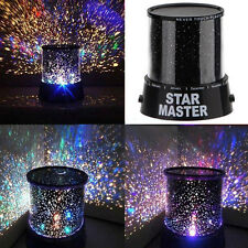 Romatic Moon Star Master Projector LED Starry Night Sky Night Light Lamp Nursery