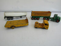 Vintage Job Lot 3 Dinky Toys Matchbox Corgi Trucks Trailers Play Worn Condition