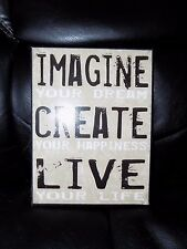 Imagine Creative Live Decorative Home Sign Creative American NEW