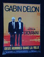 2 HOMMES DANS LA VILLE / GABIN DELON GIOVANNI / scenario pressbook film cinéma