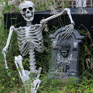 Plastic Jointed Human Skeleton Decoration Halloween Party Prop Decoration