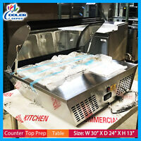 "27"" Countertop Sandwich Refrigerator Salad Salsa Bar Cooler Table Cooler Depot"