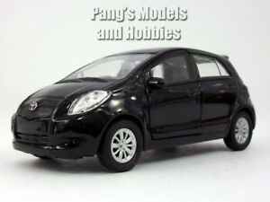 4.25 inch 2007 Toyota Yaris - 1/34 Scale Diecast Model by Welly - BLACK
