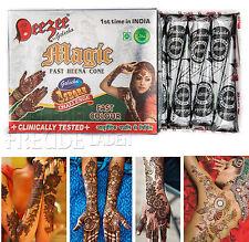 10x Golecha Deezee Mágico Pasta de henna - Conos negro á 25g - Mehandi Tatuaje