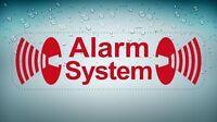 Sticker decal vinyl car bike bumber alarm system anti theft red