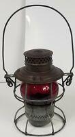 Adams & Westlake Co. Adlake 250 Kero Kerosene Lantern Patent 1911-1913 Red Glass