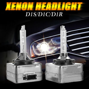 D1S 6000K White HID Xenon Headlight Light Bulbs OEM Replacement For BMW Audi VW