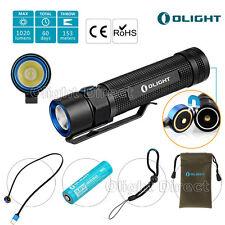 Olight S2r Baton aufladbar EDC LED Taschenlampe 1020 Lumens 18650 Akku USB Kable