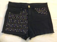 Material Girl Women's Black Short Shorts With Studs Size 7