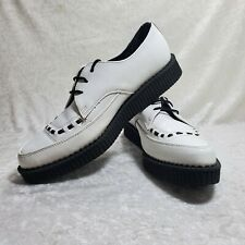 TUK White/Black Mens Size 10 Womens Size 12 Creeper Shoes A8468