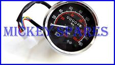 Royal Enfield Speedometer 0-160 Km h-Mile Black Dial Face  (US Econ)