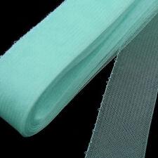"CLEARANCE! 18 yards Roll  3"" (8 cm) Aqua Threaded Horsehair Braid Trim"