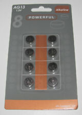 Lot x8 Piles Bouton Battery Alkaline 1,5 V AG13 / 357A / CX44 / LR44W NEUF