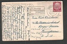 Germany 1939 Munchen post card/Berlin reichs-gard slogan cancel tyo Bryn Mawr PA