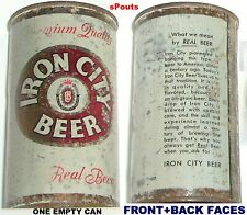 1950's Iron City Premium Flat Top It'S Real Beer Can Pittsburgh,Pa.Pennsylvani a