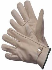 DRIVER GLOVES, COWHIDE, KEYSTONE,  W/PULL STRAP - 12 Pairs L