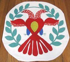 Folk Art! c 1930s PA Dutch Love BIRDS Table WALL Vintage Quilt Applique